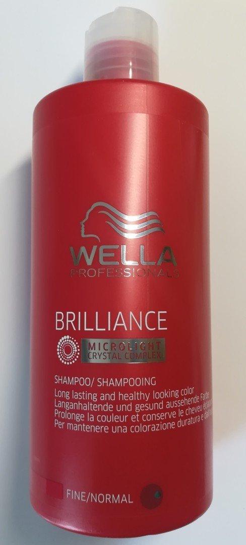 Wella Brilliance Shampoo Feines Coloriertes Haar 500 Ml Gefärbtes